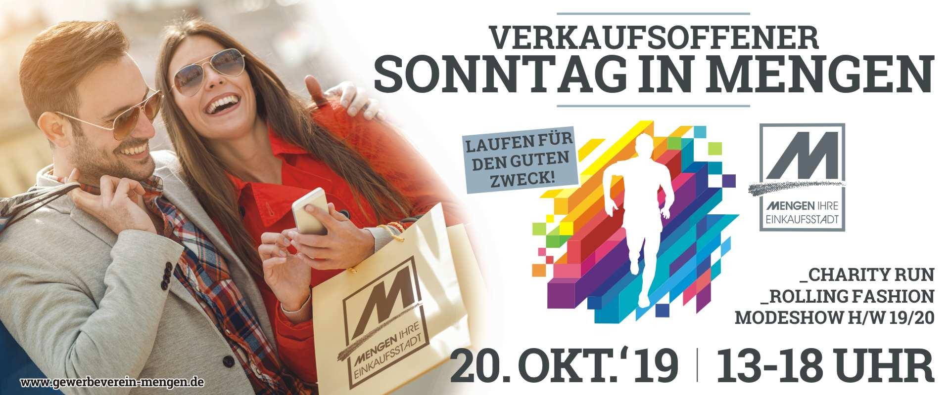 Verkaufsoffener Sonntag in Mengen am 20. Oktober 2019